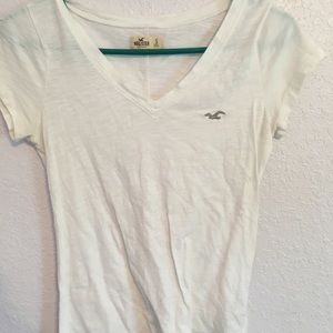 Hollister White Tee Shirt S